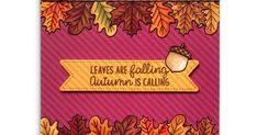 Sunny Studio Stamps: Introducing Beautiful Autumn Stamps, Nutty For You Dies & New 6x6 Patterned Paper