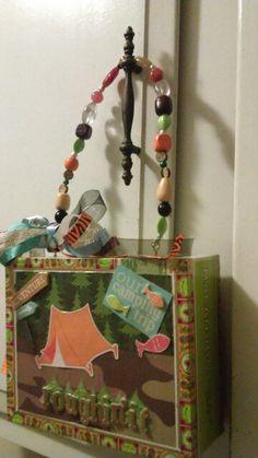 Camping and fishing cigar box purse by Cyndi Greer☆☆