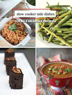 Slow Cooker Side Dishes - Clean and Healthy Crock Pot Recipes