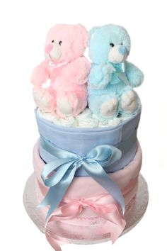 Nappy cake suitable for twins.