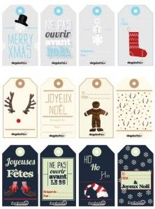 Des Etiquettes pour Noël Noel Christmas, Christmas Gift Tags, Winter Christmas, Envelopes, Diy Paper, Paper Crafts, Free Printable Gift Tags, Theme Noel, Homemade Christmas Gifts