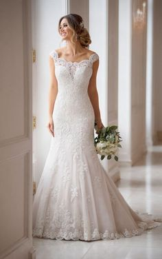 7c4b553b242 6569 Princess Wedding Dress with Off-the-Shoulder Sleeves by Stella York  Wedding Dresses