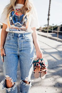 ea89f06cf Graphic Tee and Flare Jeans by Lisa Allen of