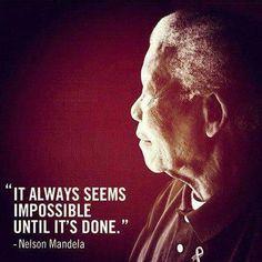Mooie uitspraak van Nelson Mandela