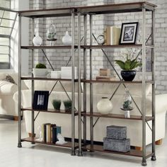 Shop a great selection of Home Styles The Orleans Multi-Function Etagere Set. Find new offer and Similar products for Home Styles The Orleans Multi-Function Etagere Set. Metal Shelving Units, Cabinet Shelving, Storage Shelves, Open Shelving, Shelf Units, Storage Rack, Retail Shelving, Shelving Ideas, Industrial Shelving