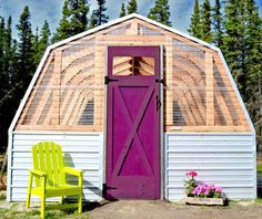 Barn Style Potting Shed & Greenhouse