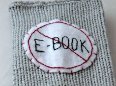 Handmade Knitted and Crocheted Funny No Ebook Book Cover Sweater $20