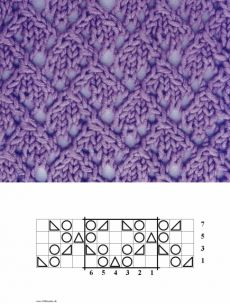 1000 Strickmuster » 005 Rauten Lace Knitting Stitches, Lace Knitting Patterns, Knitting Charts, Knitting Needles, Baby Knitting, Stitch Patterns, Crochet Yarn, Couture, Lace Knitting