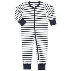 Buy Polarn O. Pyret Baby Stripe Sleepsuit Online at johnlewis.com Newborn  Sleeper df15a8b18