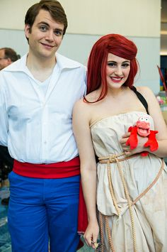 My ariel on human legs costume made a huge splash at the halloween prince eric and ariel wondercon 2013 ariel costumesmermaid costumesdiy solutioingenieria Image collections