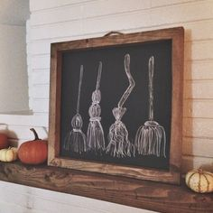 Rustic chalkboard frame 20x20 by MXOwoodworking on Etsy