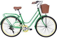 Gama Bikes City Avenue 26-Inch Botanica Step Thru 6 Speed Shimano Hybrid Urban Commuter Road Bicycle, 17-Inch, Leaf Green - http://www.bicyclestoredirect.com/gama-bikes-city-avenue-26-inch-botanica-step-thru-6-speed-shimano-hybrid-urban-commuter-road-bicycle-17-inch-leaf-green/