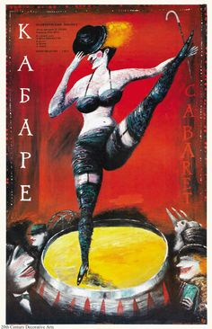 A Russian one sheet poster for Cabaret 1972.