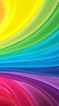 Rainbow Swirl iPhone 5s Wallpaper.