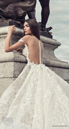 julia kontogruni 2018 bridal off the shoulder sweetheart neckline princess ball gown wedding dress sheer button back royal train (3) zbv -- Julia Kontogruni Wedding Dresses 2018