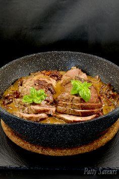 Roti de Porc Sauce Vin Blanc Cèpes #rôti #porc #viande