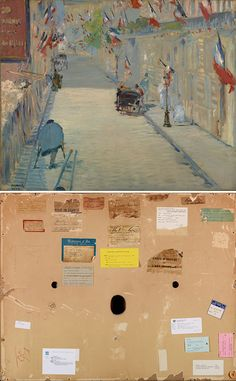 The Rue Mosnier with Flags, Édouard Manet, front and back. Getty Museum, Edouard Manet, Museums, Painting & Drawing, Art History, Flags, Galleries, Oil On Canvas, The Neighbourhood