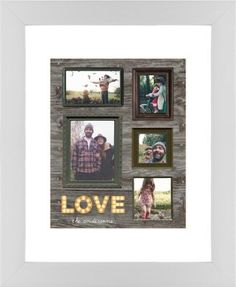 Photo Real Love Framed Print, White, Contemporary, Cream, White, Single piece, 8 x 10 inches, Brown