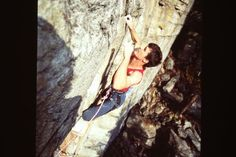 Crimping mid-move, Jordan Mills on yet another one of his 5.13 ticks, Intruders. The Gunks, early 90s. From the Rock and Snow BLOG