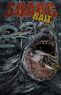 The original cover for Sharc Bait... I thought it gave off the 70's retro style book vibe. I used to love reading the old adventures in the 80's (& who doesn't love a big shark story).