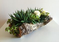 Modern Succulent Floral Arrangement  Ivory by ArtsFloralDesign, $72.00
