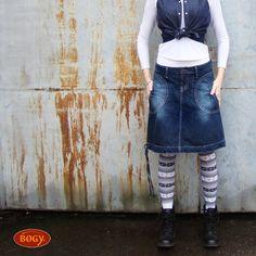 98c65b47755 riflová sukně mírně balónová - tmavěmodrá bavlna (velikost 36 - skladem)    Zboží prodejce BOGY - Janečková Petra