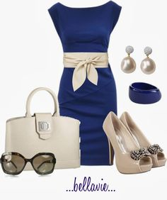 Classy Outfits | Louie-Louie  Diane Von Furstenberg Dress, Embellished Bow Shoes, Mirabeau Handbag, CHANEL Sunglasses  by bellaviephotography