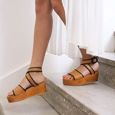 Wooden platforms // #shoes