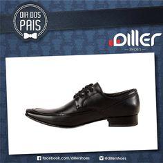 Se o seu pai é do estilo formal, que gosta de ser elegante, porém sem perder o conforto, sapato social diller shoes pode ser uma grande opção para presentear. Diller Pais, porquê o seu pai merece o melhor. #shoes #pais #day #men