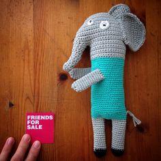 Elephant #knittedtoy #toy #handmade #elephant