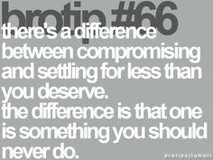 compromising vs settling