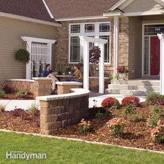 Give the front of your home curb appeal by adding a trellis, arbor and low wall. These projects are all low-cost and easy enough to do yourself. This simple