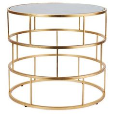 Check out this item at One Kings Lane! Ladder Side Table, Gold  Miles Away