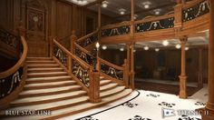 Titanic II Cruise liner unveiled by Billionaire Grand Staircase, Stairs, Titanic Ii, Adventure Holiday, Building Companies, Set Sail, Billionaire, Dream Vacations, Sailing