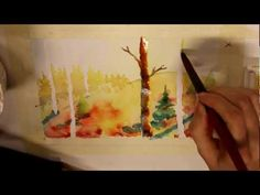 ▶ Water color tutorial - BEGINNERS - YouTube