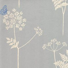 Cow Parsley and Butterfly wallpaper