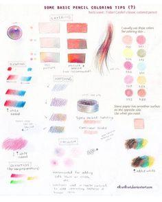 Tutorial : Pencil color (basic) by rikurikuri on DeviantArt - Artistic journals! - Tutorial : Pencil color (basic) by rikurikuri - Realistic Rose Drawing, Basic Drawing, Drawing Tips, Drawing Art, Drawing Ideas, Colour Drawing, Drawing Pictures, Drawing Designs, Figure Drawing