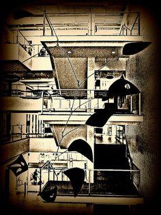 Calder stairway enhancement # 1, via Flickr.
