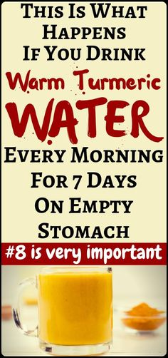 Drink warm turmeric water on an empty stomach for 7 days and amazing things will happen to your body! - health and fitness. Drink warm turmeric water on an empty stomach for 7 days and amazing things will happen to your body! - health and fitness. Natural Home Remedies, Herbal Remedies, Health Remedies, Health Diet, Health And Wellness, Health Fitness, Fitness Hacks, Chakras, Turmeric Water