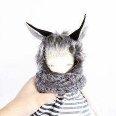 Wolf Allvar with tail puppadolls Puppa doll hand by poppyandowl