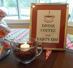 Find This Pin And More On Coffee Theme Party Ladies Retreat