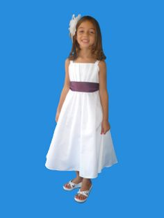 38a218f2dc5 Rosebud Fashions Flower Girl 5119 Style 5119 is a satin tank style T length  dress with a pleated bodice. Waist is accented with a satin sash with  self-tying ...
