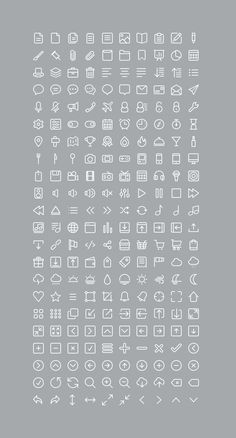 220 Free Icons Set, #Free, #Graphic #Design, #Icon, #Outline, #PSD, #Resource