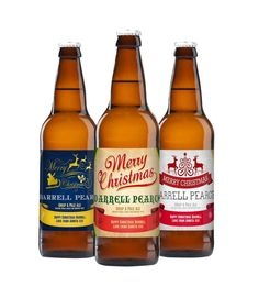 Personalised Christmas Set of 3 Beers