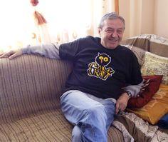 Angel Filipov, sitting comfortably on a sofa ;)