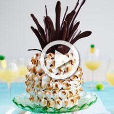 Pineapple and coconut 'pineapple' cake - Sainsbury's Magazine
