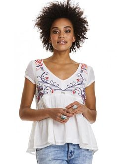 Odd Molly Bluse 617M-625 Entertain Blouse - light chalk