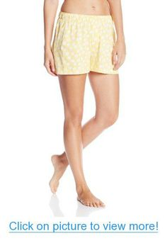 87f7da4d9a Hue Sleepwear Women's Reef Dot Boxer, Sunset Gold, Small at Amazon Women's  Clothing store: