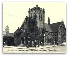 This church is located at Franklin and Geary Streets, in San Francisco, California. 'Abdu'l-Bahá addressed this congregation on Sunday, October 6, 1912. (Photo graciously provided by the church archivist in 1977)