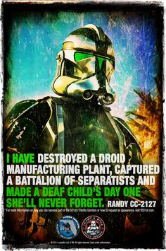 """Why we do it""  Florida Garrison CO CC-2127  Star Wars FL501st Star Wars 501st"